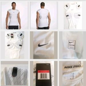 NIKE Pro Combat White Hyperstrong Football Large